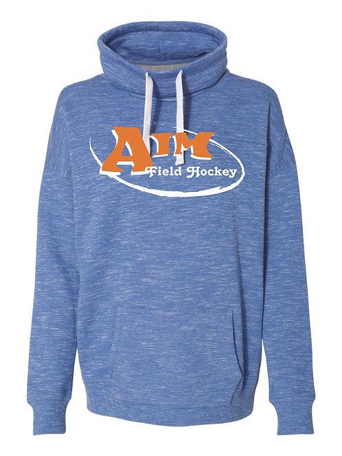 Aim Blue Women's Cowl Neck Sweatshirt