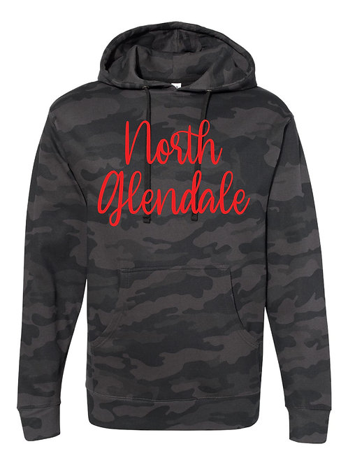 NORTH GLENDALE BLACK CAMO Independent Trading Co. - Midweight Hooded Sweatshirt