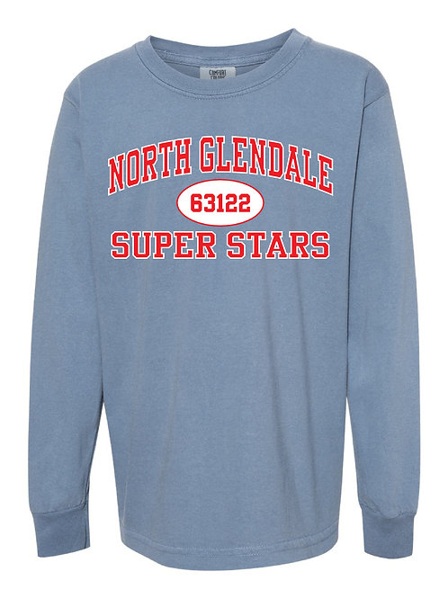 NORTH GLENDALE Blue Jean Comfort Colors - Garment-Dyed Long Sleeve T-Shirt