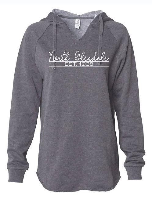 Women's Lightweight  North Glendale Gray Hooded Sweatshirt