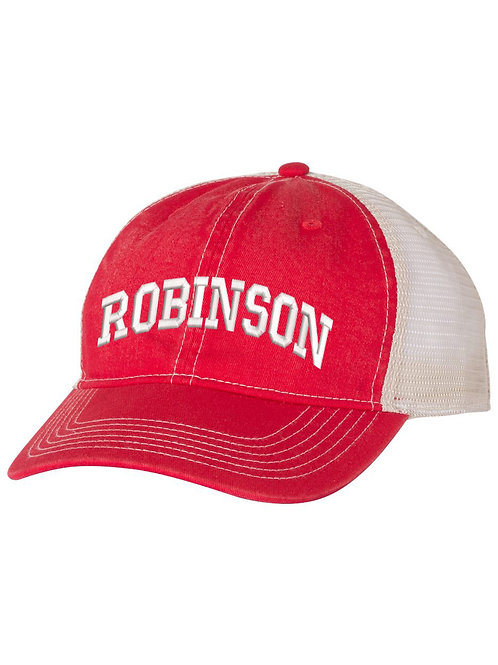 ROBINSON  Embrodiered Red Trucker Hat
