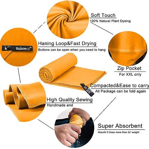 Microfiber Orange Fast Drying Towel