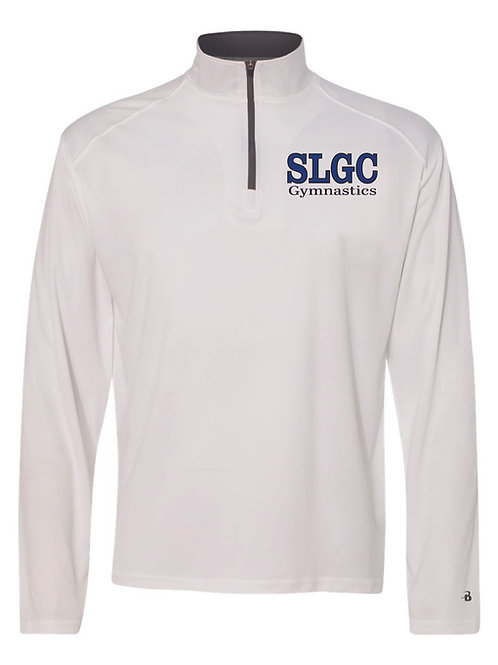 SLGC Xcel Men's and Youth Athletic 1/4 Zip - White