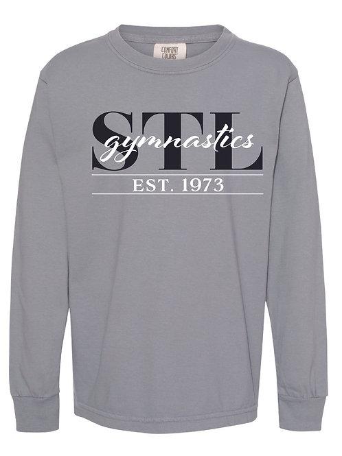 STL Gymnastics Comfort Colors Gray Long Sleeve Tee