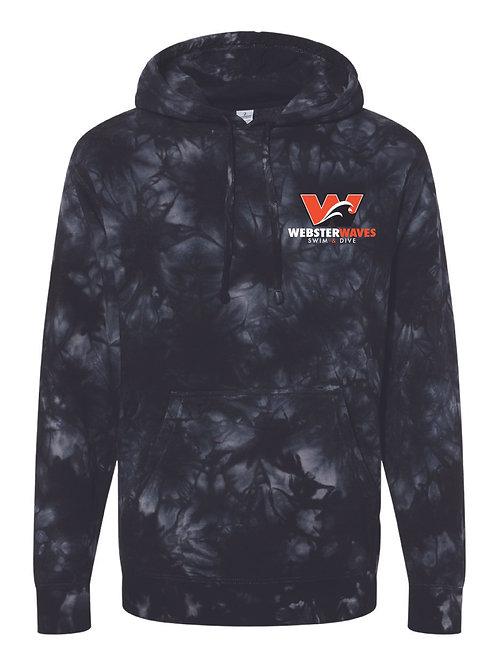 Webster Waves Tie-Dyed Black Hoodie