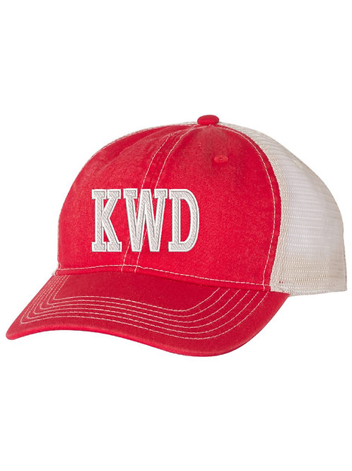 KIRKWOOD Embrodiered Red Trucker Hat