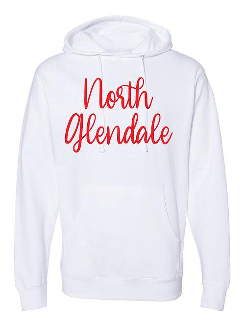 NORTH GLENDALE WHITE  Hooded Sweatshirt