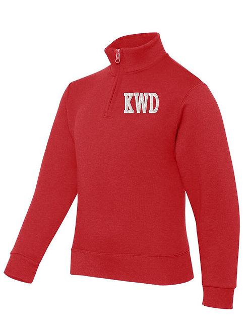 KIRKWOOD RED JERZEES - Nublend® Cadet Collar Quarter-Zip Embrodier