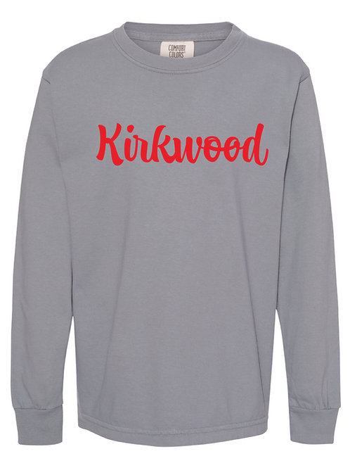 KIRKWOOD Granite Comfort Colors - Garment-Dyed Long Sleeve T-Shirt