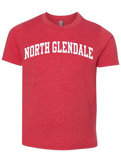 NORTH GLENDALE RED Next Level - CVC Short Sleeve Crew