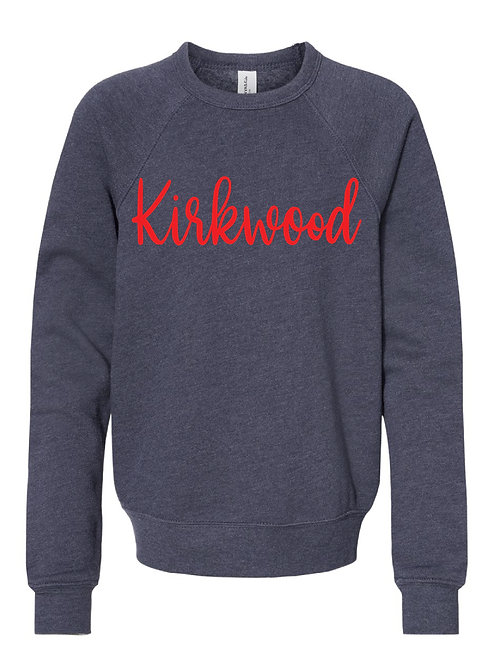 KIRKWOOD NAVY BELLA + CANVAS - Unisex Sponge Fleece Raglan Sweatshirt