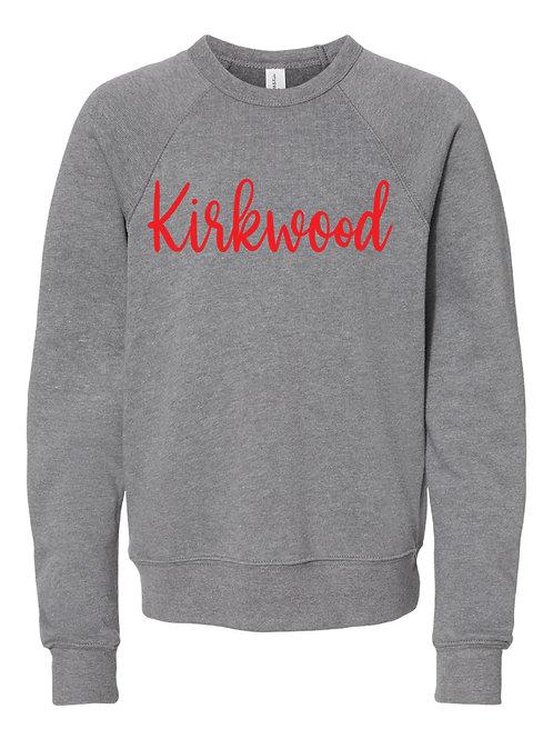 KIRKWOOD GRAY BELLA + CANVAS - Unisex Sponge Fleece Raglan Sweatshirt