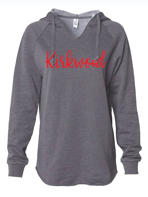 Women's Lightweight  Gray Hooded Sweatshirt
