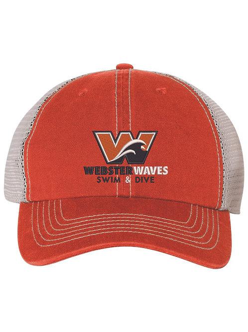 Webster Waves 47 Brand Orange Trucker Hat