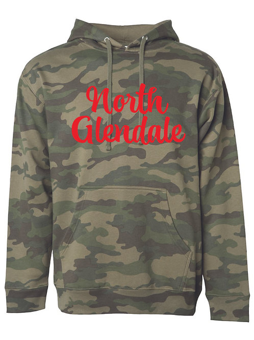 NORTH GLENDALE FOREST CAMO Independent Trading Co. - Midweight Hooded Sweatshi