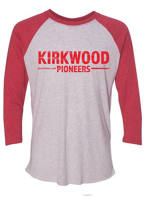KIRKWOOD Red Unisex Baseball Tee
