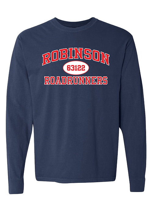 ROBINSON Navy Comfort Colors - Garment-Dyed Long Sleeve T-Shirt