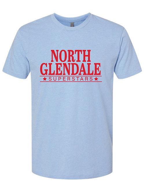NORTH GLENDALE Blue Next Level - CVC Short Sleeve Crew