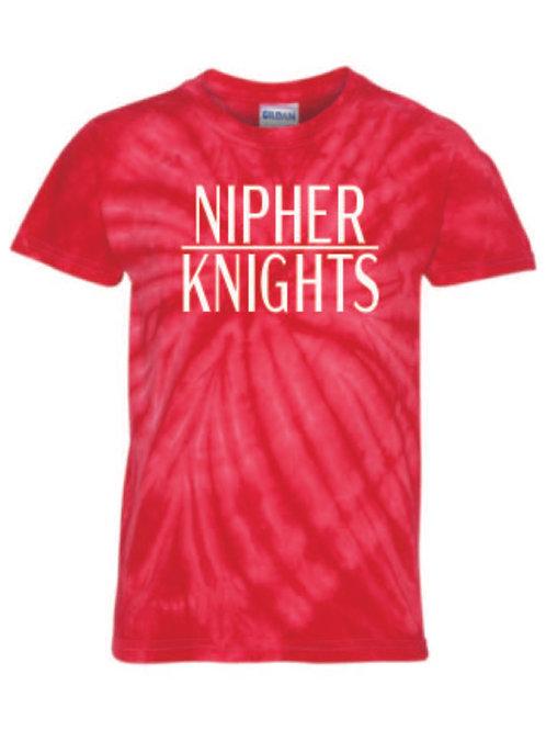 Nipher Red Pinwheel Tie-Dyed T-Shirt