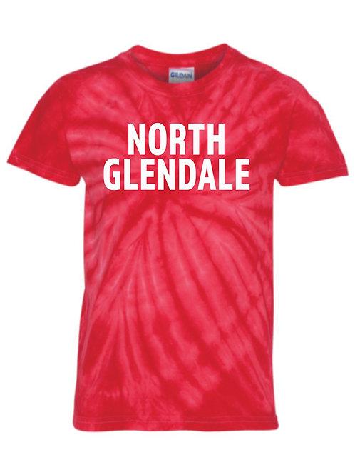 NG Red Pinwheel Tie-Dyed T-Shirt