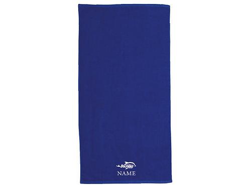 BHF Blue Embroidered Beach Towel
