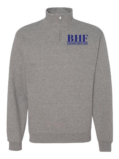 BHF Gray 1/4 Zip Pullover