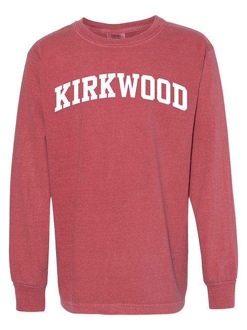 KIRKWOOD Crimson Red Comfort Colors - Garment-Dyed Long Sleeve T-Shirt