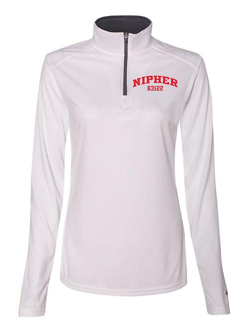 Nipher White Women's Athletic 1/4 Zip