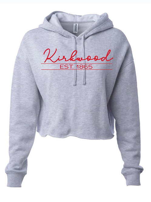 Kirkwood Gray Women's Lightweight Cropped Hooded Sweatshirt