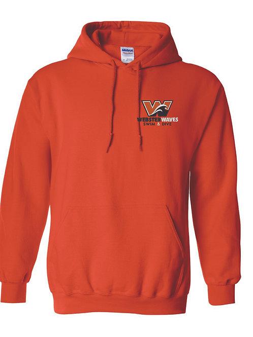 Orange Embroidered Webster Waves Hoodie