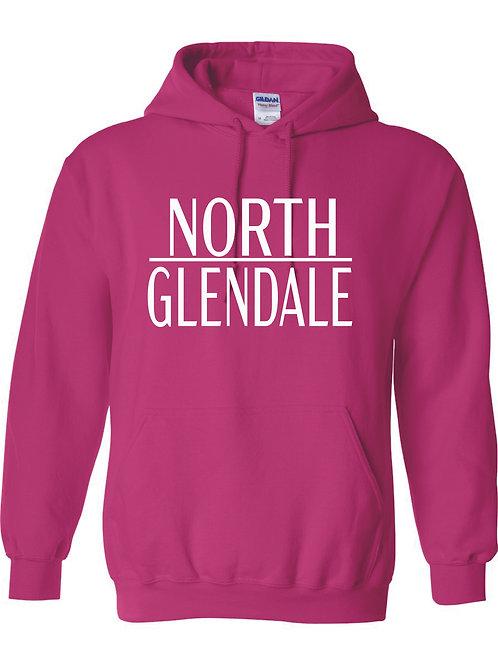 North Glendale Pink JERZEES Brand Hooded Sweatshirt