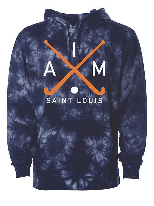 Aim Tie-Dyed Navy Blue Hoodie
