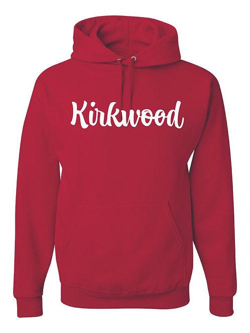 Kirkwood Red JERZEES Brand Hooded Sweatshirt