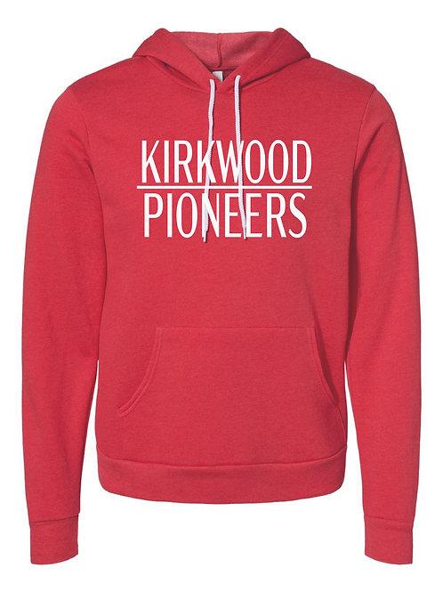 KIRKWOOD RED Unisex Sponge Fleece Hoodie