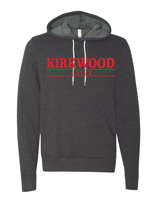 KIRKWOOD CHARCOAL GRAY Unisex Sponge Fleece Hoodie