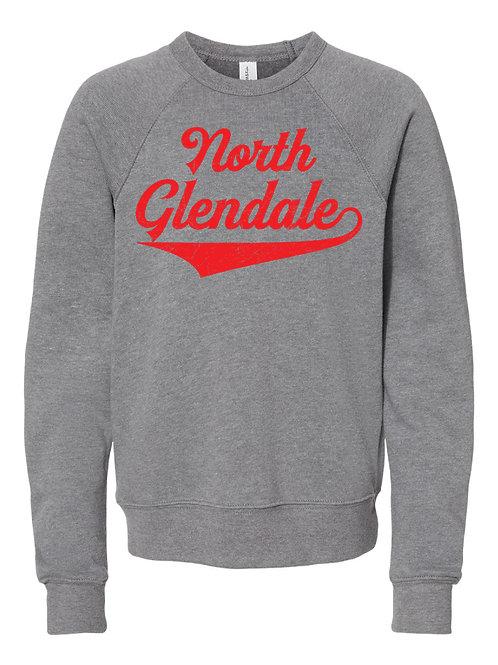 NORTH GLENDALE GRAY BELLA + CANVAS - Unisex Sponge Fleece Raglan Sweatshirt