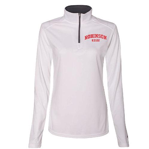 Robinson White Women's/Girl's Athletic 1/4 Zip
