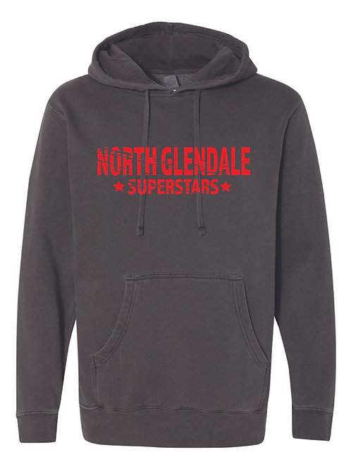 NORTH GLENDALE Gray Independent Trading Co. - Midweight Hooded Sweatshirt