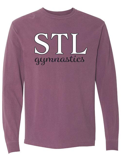STL Gymnastics  Comfort Colors Maroon Long Sleeve Tee