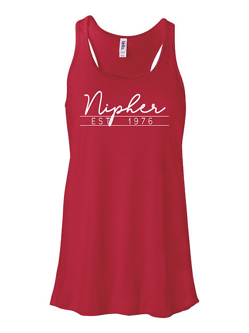 Nipher RED Women's Flowy Racerback Tank