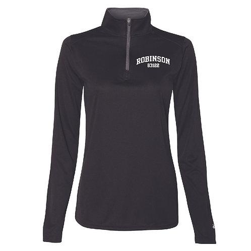 Robinson Black Women's/Girl's Athletic 1/4 Zip