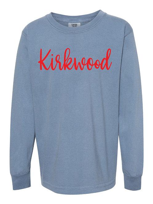 KIRKWOOD Blue Jean Comfort Colors - Garment-Dyed Long Sleeve T-Shirt