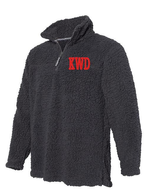 KIRKWOOD Charcoal Gray Boxercraft - Unisex Sherpa Fleece Quarter-Zip Pullover