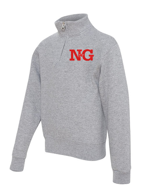 NORTH GLENDALE GRAY JERZEES - Nublend® Cadet Collar Quarter-Zip Embrodiered Sw