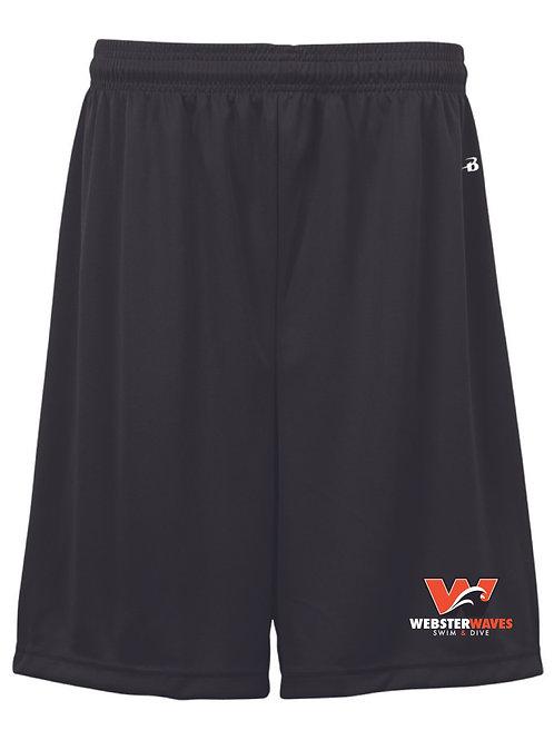 Webster Waves Boy's/Men's Black Shorts