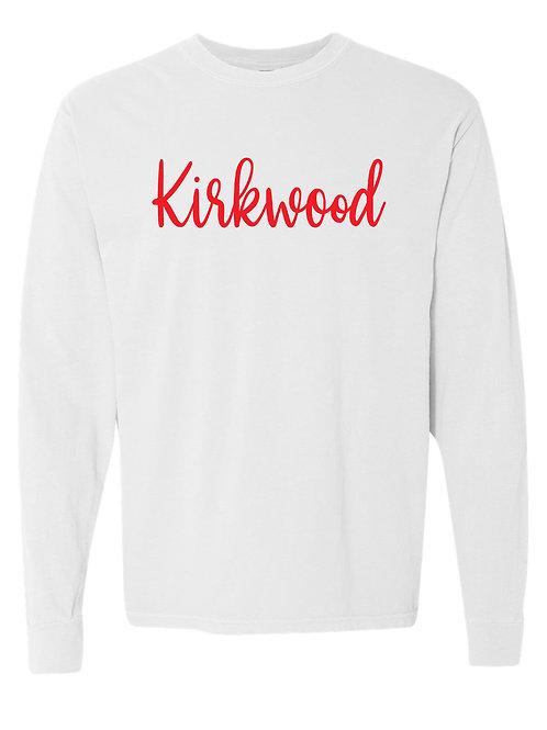 KIRKWOOD White Comfort Colors - Garment-Dyed Long Sleeve T-Shirt