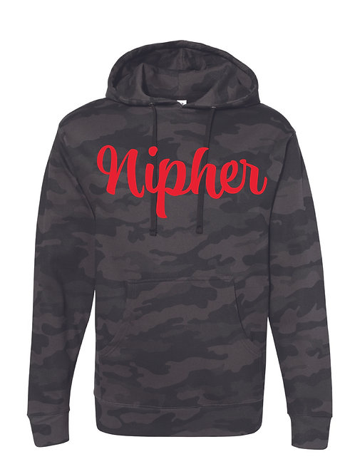 NIPHER BLACK CAMO Independent Trading Co. - Midweight Hooded Sweatshirt