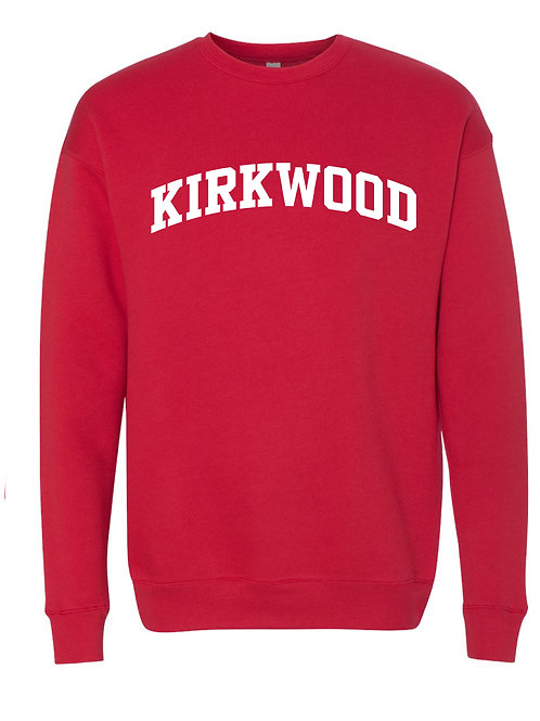 KIRKWOOD RED BELLA + CANVAS - Unisex Sponge Fleece Raglan Sweatshirt