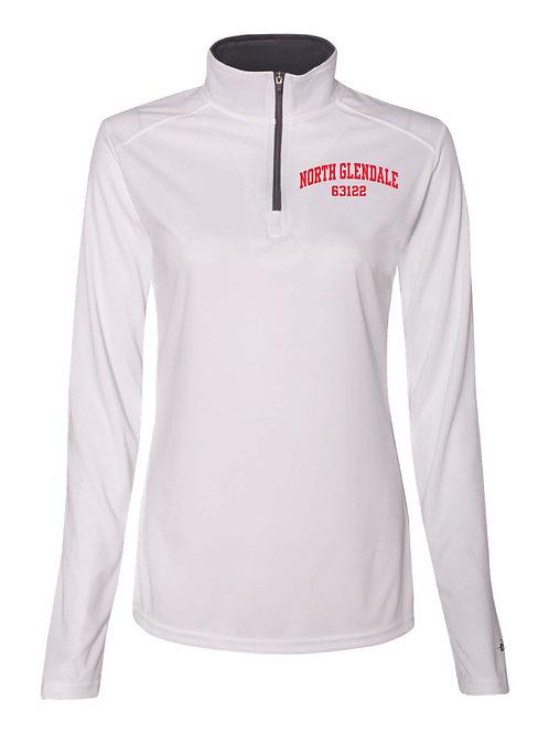 NG White Women's/Girl's Athletic 1/4 Zip