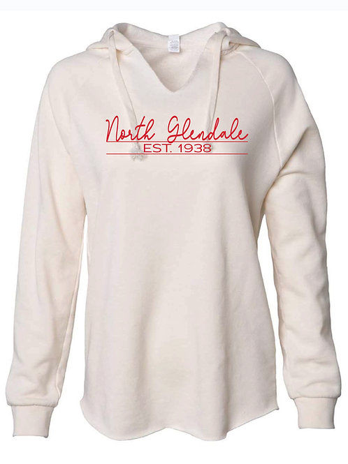 Women's Lightweight  North Glendale Bone Hooded Sweatshirt